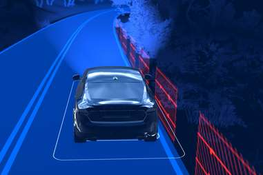 Volvo's lane sensing technology doesn't need stripes to function