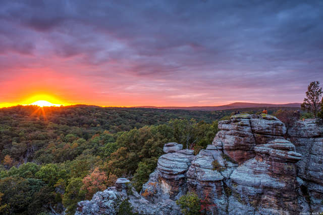Sunset in Shawnee National Forest