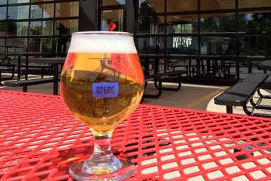 Beer outside at Station 26 Brewing Co