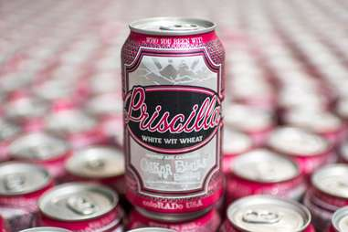Priscilla beer at the Oskar Blues Brewery