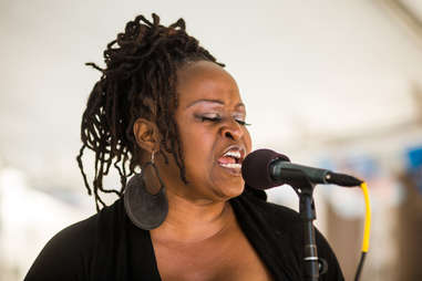 A singer at the SF Jazz Festival