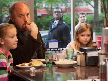 Louis CK with his daughters from Louie