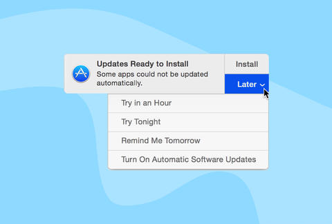 screenshot of software update alert on Mac