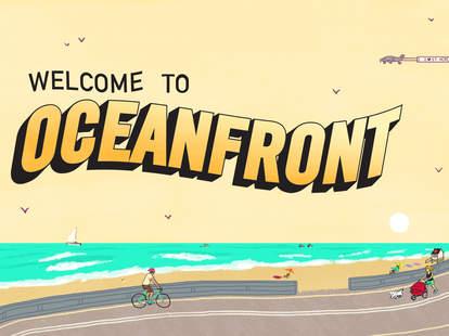San Diego oceanfront illustration by Daniel Fishel