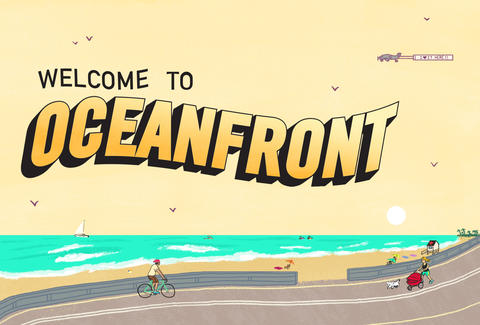 San Diego oceanfront illustration by Daniel Fishel