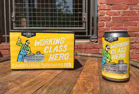 Working Class Hero beer in Cambridge