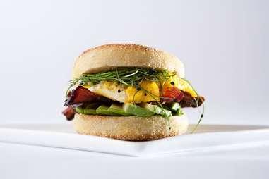 Les Madeleines breakfast sandwich