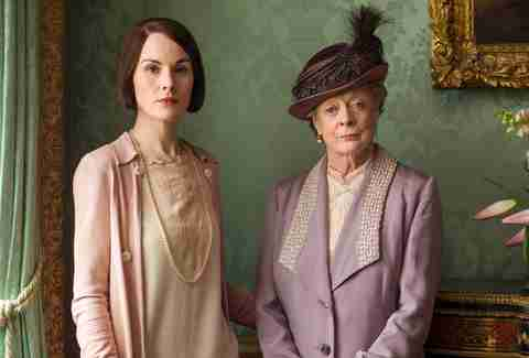 michelle dockery maggie smith downton abbey