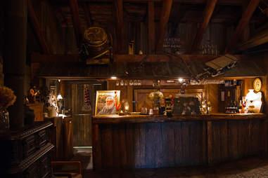 The bar at a Quebec sugar shack
