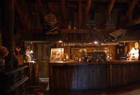 The bar at a Quebec sugar shack