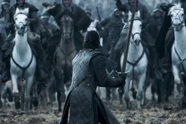 Kit Harington as Jon Snow in the Battle of the Bastards