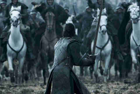 Kit Harington as Jon Snow in the Battle of the Bastards