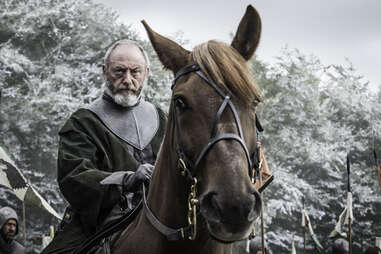 Liam Cunningham as Davos Seaworth in Battle of the Bastards