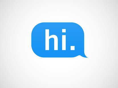 """iMessage of the word """"hey"""""""