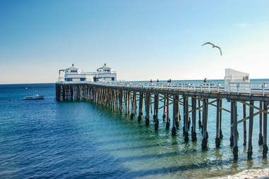 Malibu Pier in California