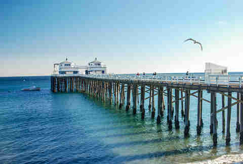 Malibu Pier in California