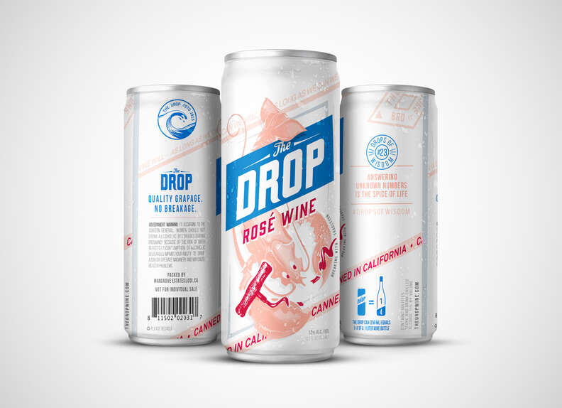 The Drop canned wine