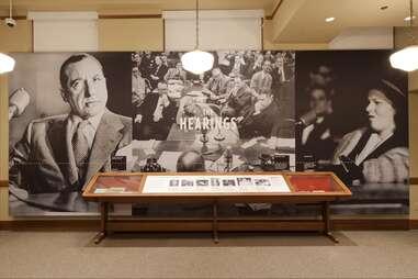 Mob Museum exhibit