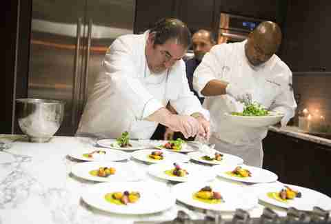 Emeril Lagasse celebrity chef plating