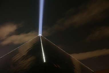 The Luxor pyramid light