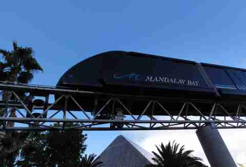 Shuttle train Mandalay Bay