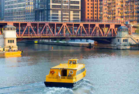 A water taxi in Chicago