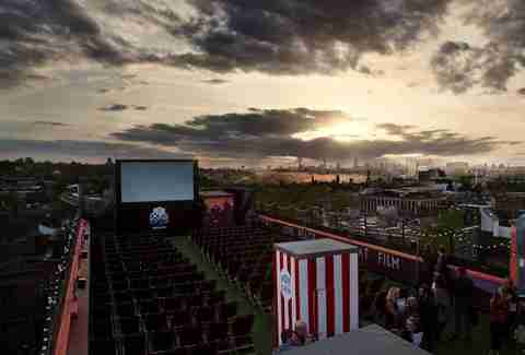 Rooftop movie screening in Chicago