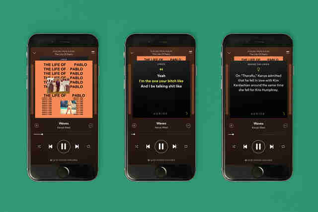 iphone 6 feature spotify lyrics feature
