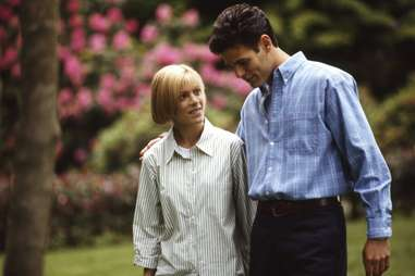 Tori Spelling and Ivan Sergei on set of 'Mother, May I Sleep with Danger?'