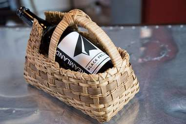 Former Future beer in a basket