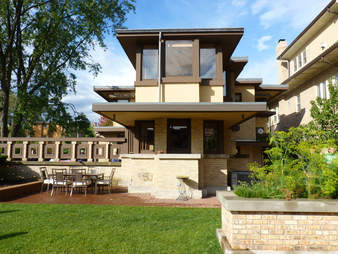 Frank Lloyd Wright-designed house in Chicago