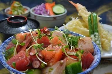 Poke bowl at Gyotaku Restaurant