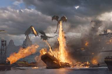 dragon attack meereen game of thrones