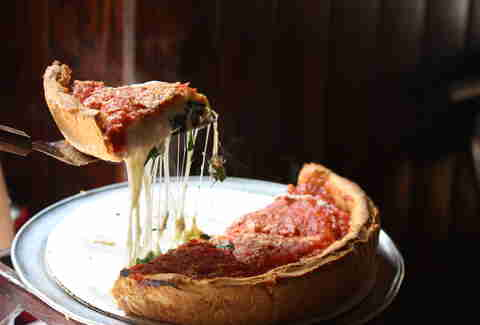 Pizza at Giordano's in Chicago