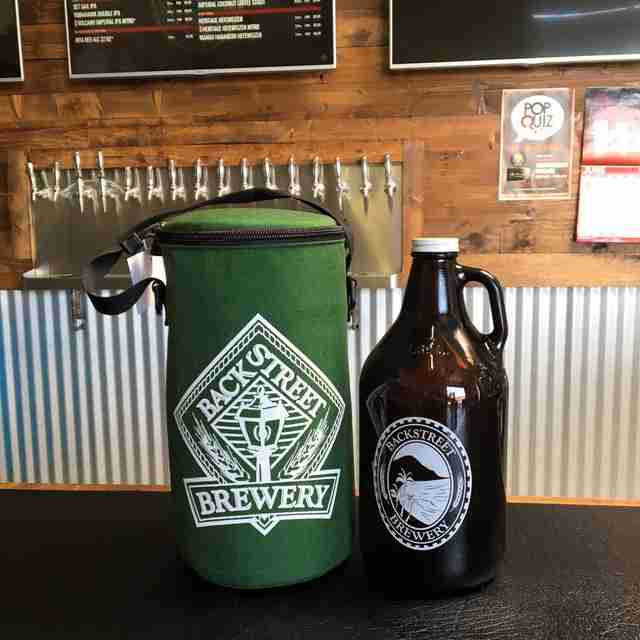 Growler at Backstreet Brewery