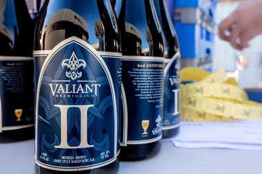Bottled beer at Valiant Brewing