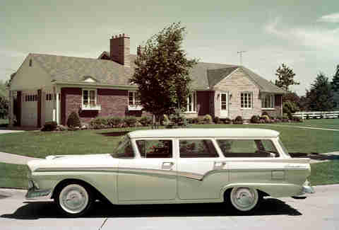 Station wagons in the 1950s were everywhere