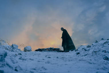 Liam Cunningham as Davos Seaworth discovering Shireen's stag.