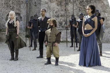 Emilia Clarke as Daenerys Targaryen, Peter Dinklage as Tyrion Lannister, Nathalie Emmanuel as Missandei
