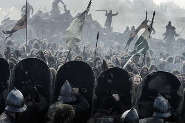 The Battle of the Bastards as the Wildlings face the heavily armed Boltons