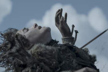 Art Parkinson as Rickon Stark when Rickon is shot by Ramsay Bolton's arrows