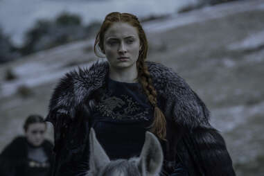 Sophie Turner as Sansa Stark in the Battle of the Bastards on Game of Thrones