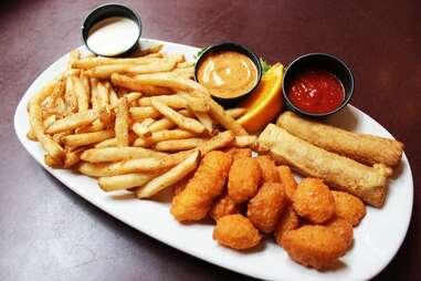 Appetizer platter at Saz's
