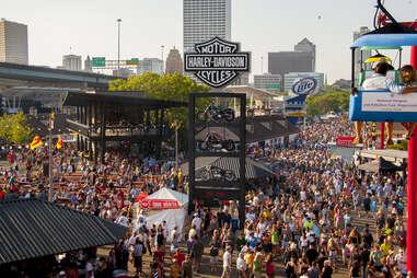 Main walkway at Summerfest Milwaukee