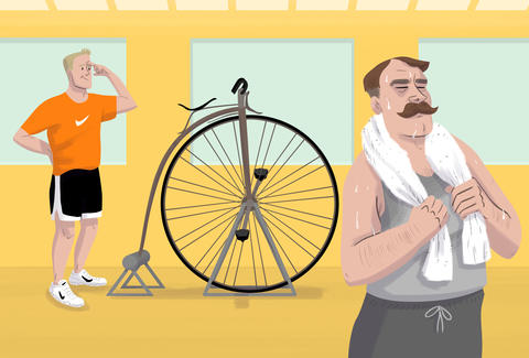 illustration of going to the wrong gym