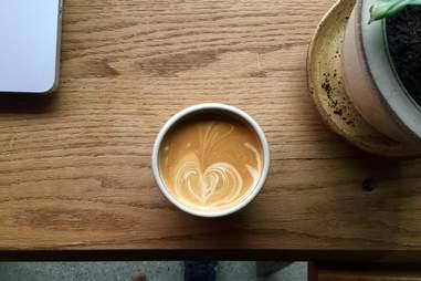Latte at Loyal Nine