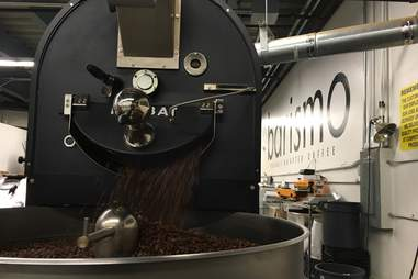 Roasting beans at Barismo in Boston