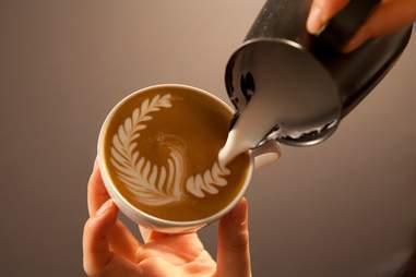 Latte art at Ogawa Coffee