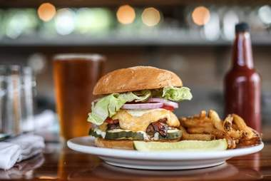 Pimento cheese burger at Burger UP