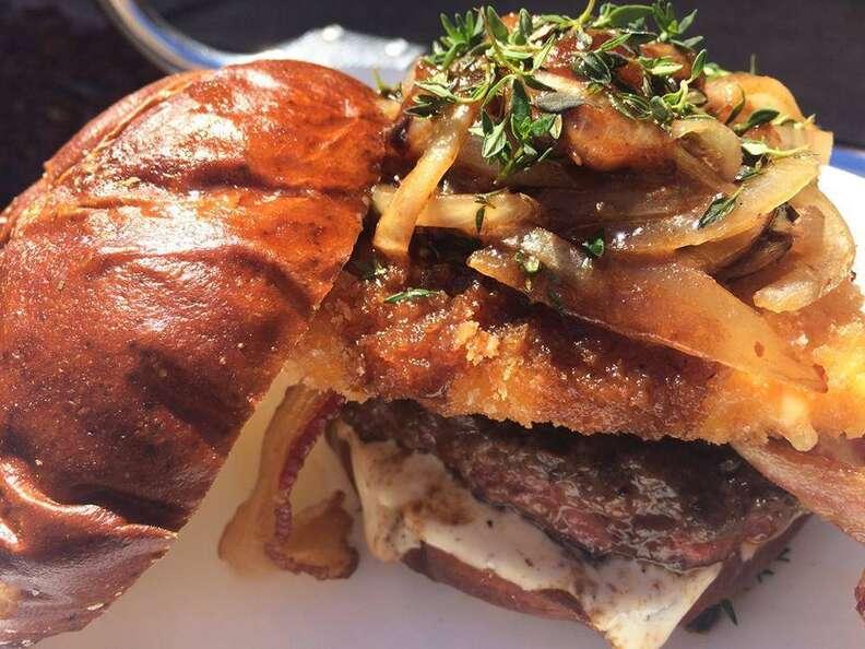 Ministry burger at Kuma's Corner